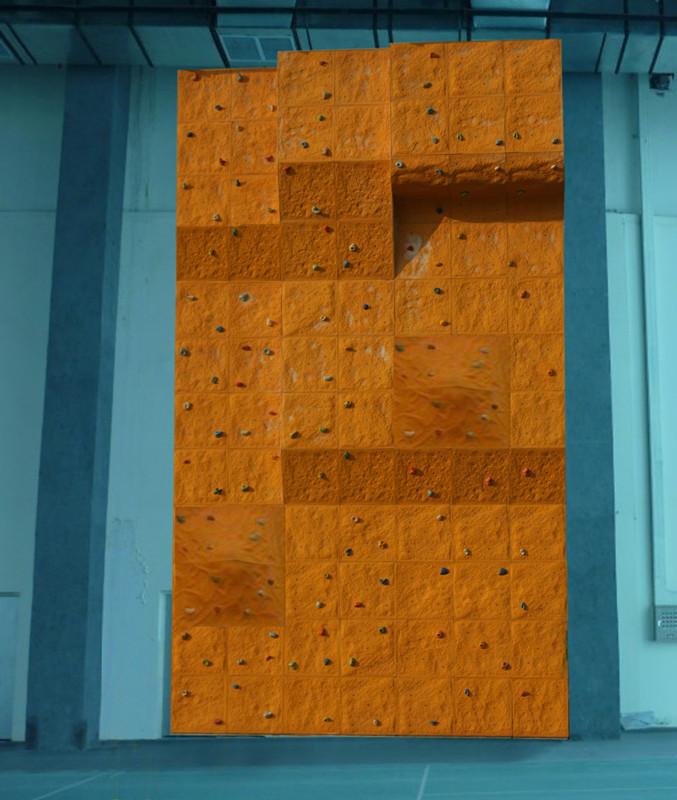 健身房攀岩墙